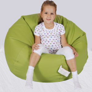 Cosy-Medium-Leatherette-Lime-Green-front