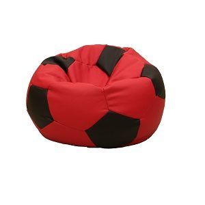 Leatherette Soccer Ball Red