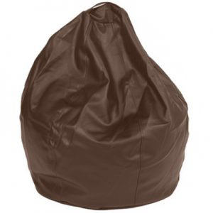 Queen-Large-Leatherette-Dark-Brown-front